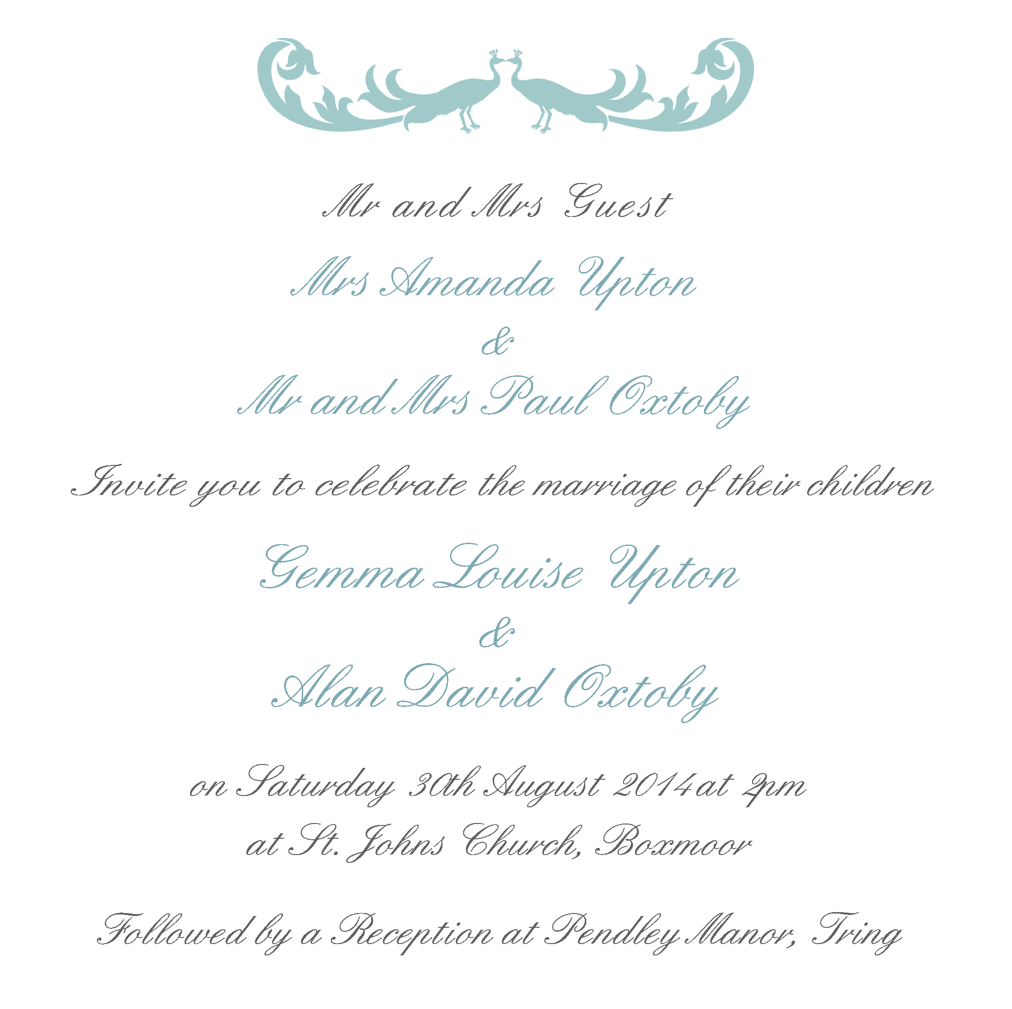 Wedding Invitation Etiquette Grooms Parents Names